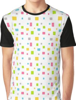 Color round cubes background Graphic T-Shirt
