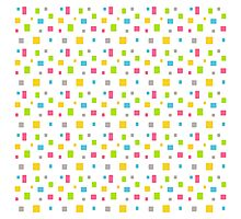 Color round cubes background Photographic Print