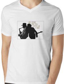 Hey Eddie Mens V-Neck T-Shirt