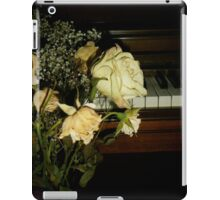 The White Rose and Piano iPad Case/Skin