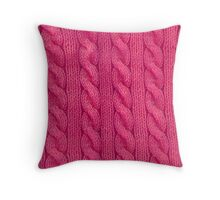 Pink Cables Throw Pillow
