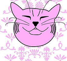 Chubby Cat Gorgeous Pink by offwhitelimo