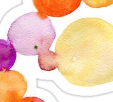 Watercolor magical circles Sticker
