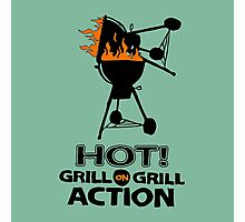 HOT GRILL ON GRILL ACTION Photographic Print