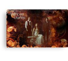 TVD - Damon, Stefan, Elena Canvas Print