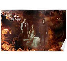 TVD - Damon, Stefan, Elena Poster