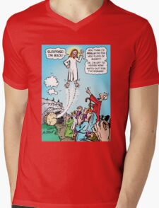 Jesus KINDA died for our sins! Mens V-Neck T-Shirt