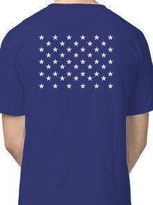 STARS, Stars of the American Flag, Star spangled, White stars, American Flag, Stars & Stripes, America, USA Classic T-Shirt