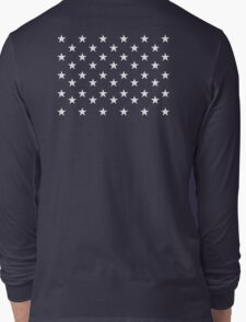 STARS, Stars of the American Flag, Star spangled, White stars, American Flag, Stars & Stripes, America, USA Long Sleeve T-Shirt