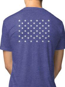 STARS, Stars of the American Flag, Star spangled, White stars, American Flag, Stars & Stripes, America, USA Tri-blend T-Shirt