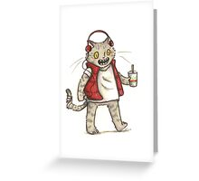Cat Jams Greeting Card