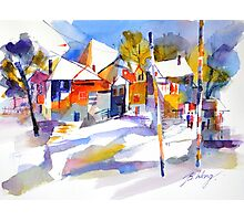 For love of winter #1 - watercolour on paper Photographic Print