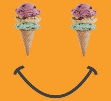 happy summer ice cream cone yellow smiley face by lfang77
