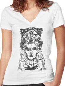 ALEXANDERS PRINCESS  Women's Fitted V-Neck T-Shirt