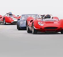 Vintage Racecars 'Tight Turn 11' by DaveKoontz