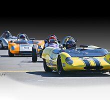 Vintage Racecars 'Home Stretch' by DaveKoontz