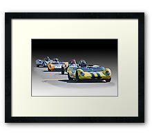Vintage Racecars 'Home Stretch' Framed Print