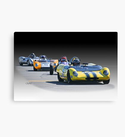 Vintage Racecars 'Home Stretch' Canvas Print