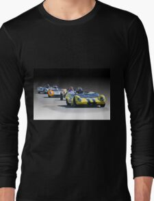 Vintage Racecars 'Home Stretch' Long Sleeve T-Shirt