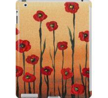 Red Poppy Field  iPad Case/Skin