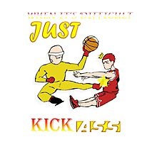 Kick them ! Saitaroro and sakuragi hanamichi  Photographic Print