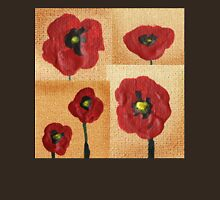 Collage With Red Poppies Unisex T-Shirt