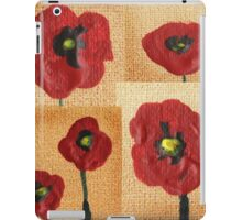 Collage With Red Poppies iPad Case/Skin