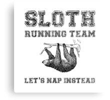 Sloth Running Team Metal Print