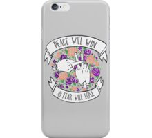 Twenty one Peace pilots Will Win  iPhone Case/Skin