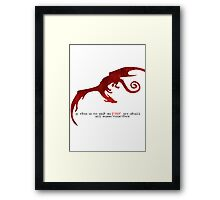 Smaug - If this is to end in fire... Framed Print