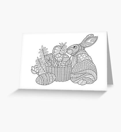 Easter Bunny Drawing Greeting Card