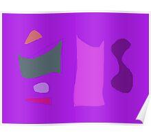 Purple Composition Poster