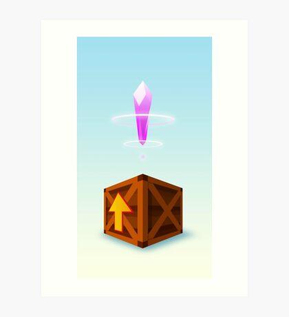 Crash Bandicoot - Crystal Crate Art Print