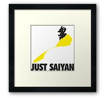 Just Saiyan !!!! Framed Print