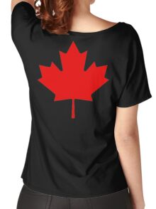 """CANADA, CANADIAN, MAPLE LEAF, Pure & Simple, Canadian Flag, National Flag of Canada, """"A Mari Usque Ad Mare"""" Women's Relaxed Fit T-Shirt"""