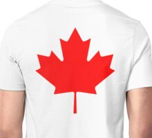 "CANADA, CANADIAN, MAPLE LEAF, Pure & Simple, Canadian Flag, National Flag of Canada, ""A Mari Usque Ad Mare"" Unisex T-Shirt"