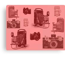 Vintage Camera in Red Canvas Print