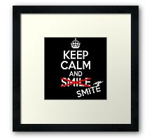 Keep calm and smite Framed Print