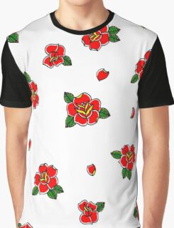 Traditional rose tattoo all over print Graphic T-Shirt