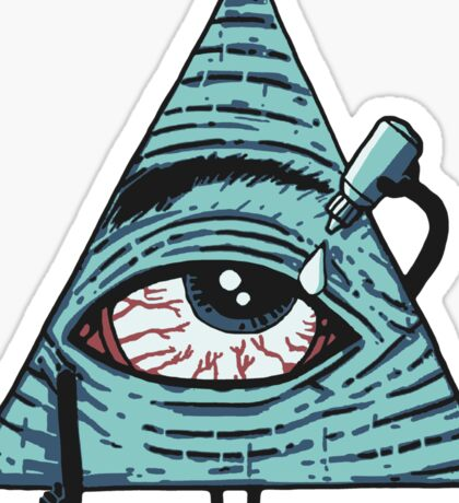 Illuminati Are Baked Sticker