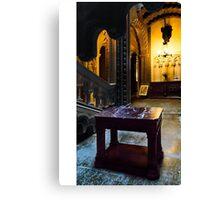 Penrhyn castle -Marble table  Canvas Print