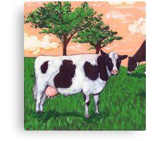 Defiant Cow Canvas Print