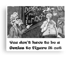 Genius Cow Metal Print