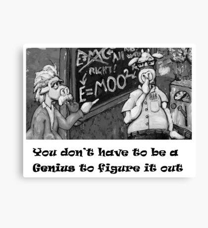 Genius Cow Canvas Print