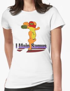 I Main Samus - Super Smash Bros Melee Womens Fitted T-Shirt