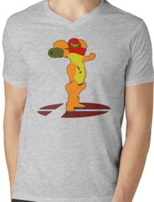 Samus - Super Smash Bros Melee Mens V-Neck T-Shirt