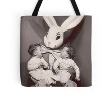 Creepy Easter Bunny Tote Bag