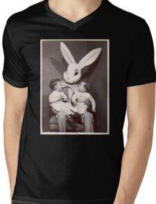 Creepy Easter Bunny Mens V-Neck T-Shirt