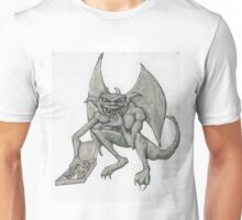 Gargoyle Eating pizza Unisex T-Shirt