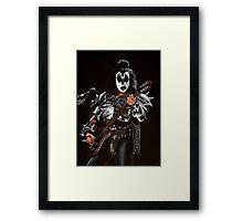 Gene Simmons of Kiss Painting Framed Print
